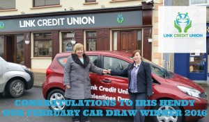 Link Credit Union Car Draw Winner