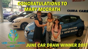 June Car Draw Winner 2017 Bailieborough