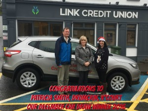 Link CU Dec Car Draw Winner